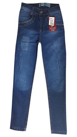 Calça Jeans Infantil Azul Escuro Tam 10