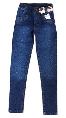 Calça Jeans Infantil Azul Escuro Tam 06