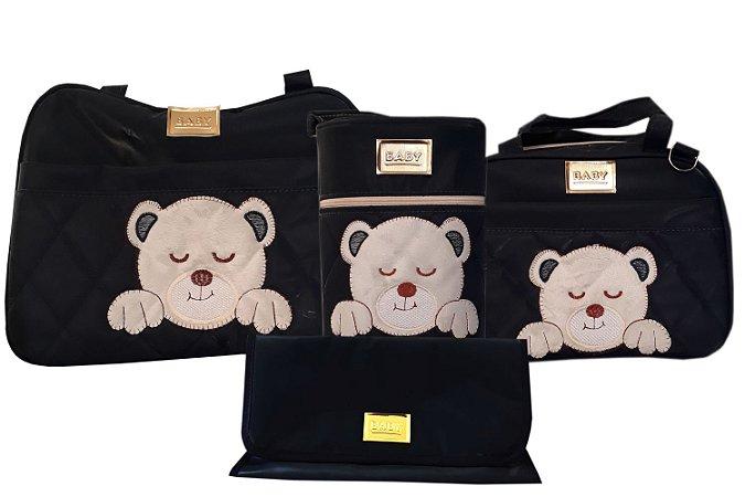 Bolsa Maternidade Azul Marinho Urso