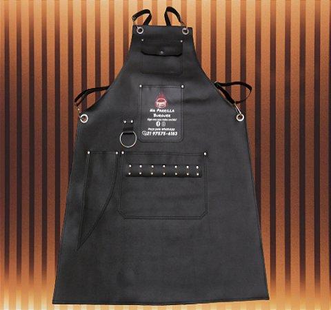 Avental churrasqueiro couro ecológico Personalizado