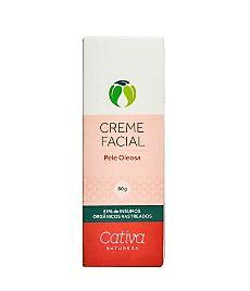 Creme Hidratante Facial Pele Oleosa Orgânico Natural Vegano (Cativa)