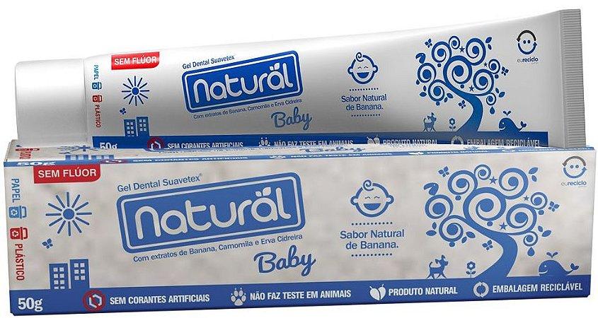 Gel Dental Natural Baby com Extratos de Banana, Camomila e Erva Cidreira 50g