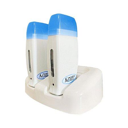Kit Base Dupla Com 2 Aquecedores de cera Roll-on - Azul