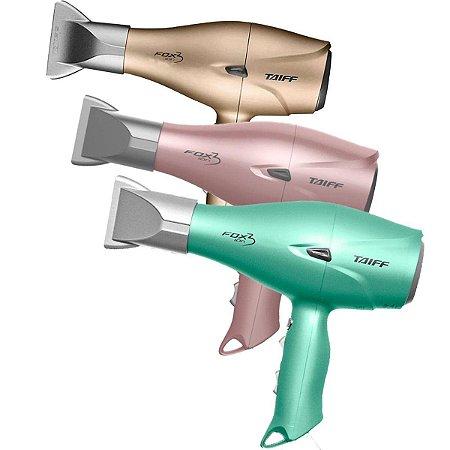 Secador de Cabelo Fox Ion 3 Soft Rose / Green Profissional 2200w - Taiff