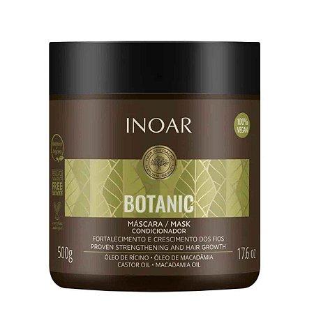 Máscara Botanic Óleo de Rícino e Macadamia Crescimento Vegan 500g - Inoar