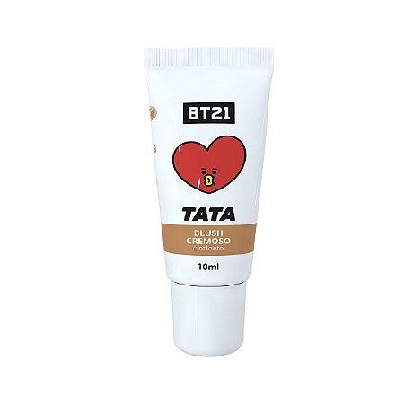 BTS Blush Cremoso Infantil BT21 Tata Cor Marrom 8g