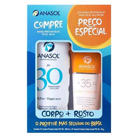 Kit Protetor Solar Corpo FPS30 200g + Facial FPS35 60g - Anasol
