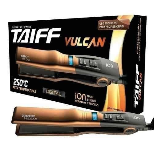 Prancha Chapinha Digital Taiff Vulcan 200 /250ºc Bivolt