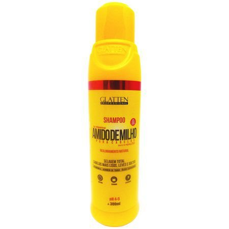 Shampoo Amido de milho 500ml Glatten