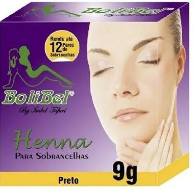 Henna Bolibel para sobrancelhas Preto