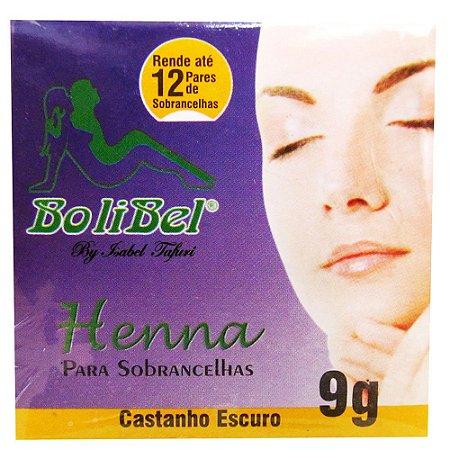 Henna Bolibel para sobrancelhas Castanho Escuro