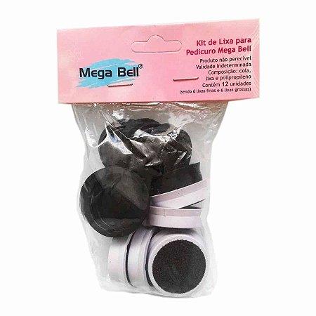 Kit Refil Para Pedicuro Com 12 Lixas - Mega Bell