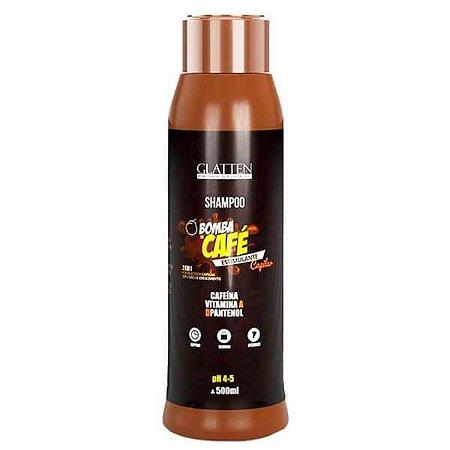 Shampoo Glatten Bomba de Café 500ml