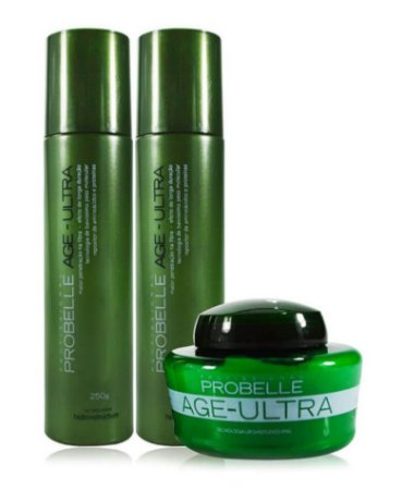 Kit Probelle Age Ultra - Máscara/shampoo/condicionador 250ml