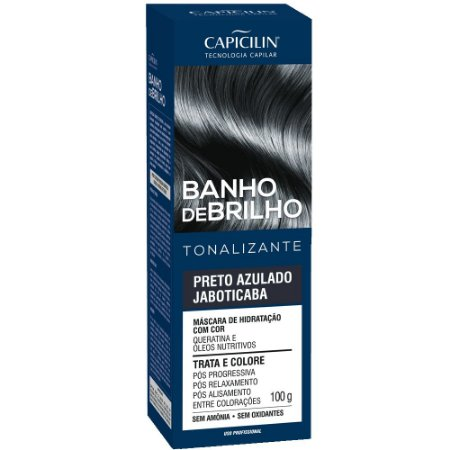 Tonalizante Banho de Brilho Preto Azulado Jaboticaba 100g Capicilin