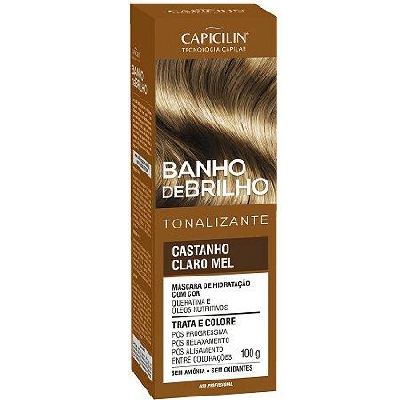 Banho de Brilho Tonalizante Castanho Claro Mel