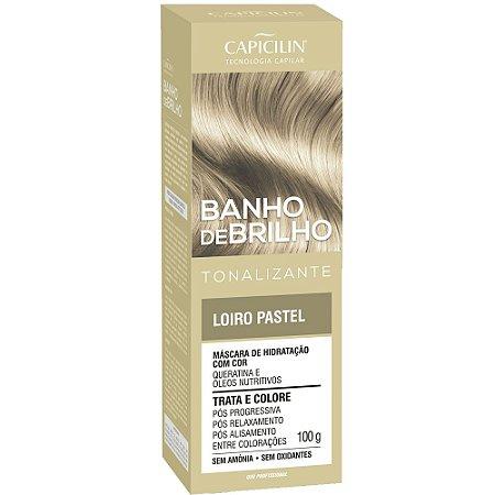 Tonalizante Banho de Brilho Loiro Pastel 100g Capicilin