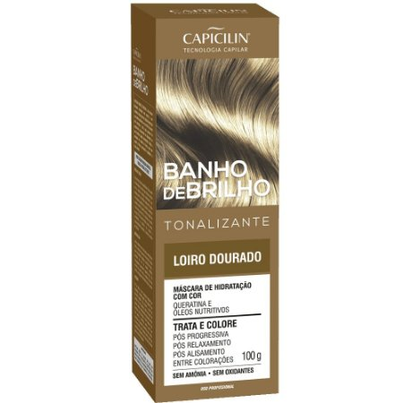 Tonalizante Banho de Brilho Loiro Dourado 100g Capicilin