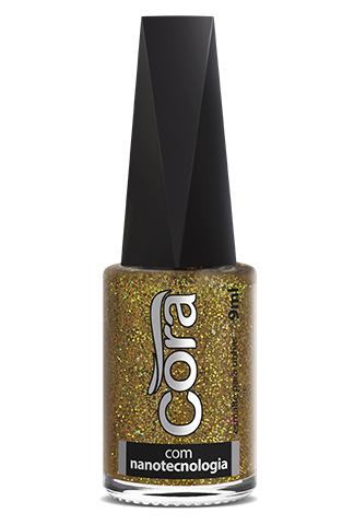Esmalte Cora 9ml Top Glitter Solar