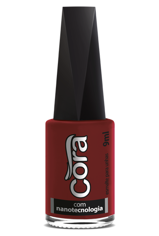 Esmalte Cora 9ml Black 13 Cremoso Red 37