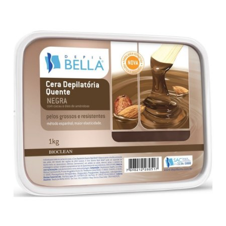 Cera Depilatória Negra Depil Bella 1kg