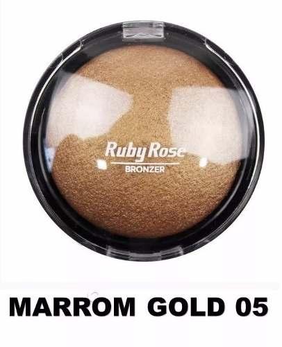 Pó Iluminador Bronzeador Ruby Rose 05