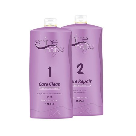 Kit Escova Progressiva Shine Hair Plus Care Clean