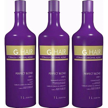 Escova Progressiva G.Hair Perfect Blond 3x1 Litro