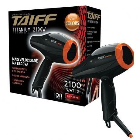 Secador de Cabelos Taiff Titanium Colors Laranja 2100W 220v