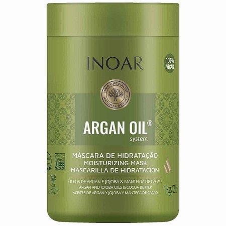 Argan Oil System Máscara Capilar 1kg óleos de Argan Jojoba e Manteiga de Cacau- Inoar