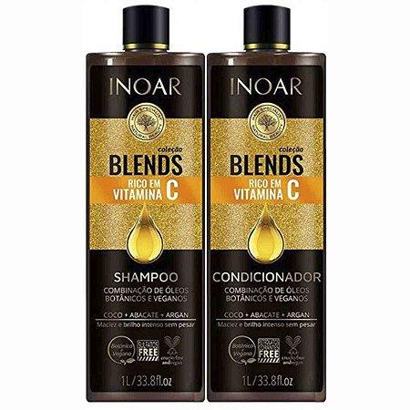 Blends Collection Oil Vitamina C Tratamento Kit Duo 1l - Inoar