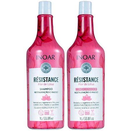 Kit Résistance Flor Restauração de Lótus Salon Duo 1l - Inoar