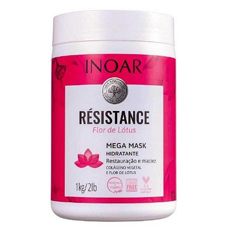Résistance Flor de Lótus Máscara Mega Mask Restauração 1kg - Inoar