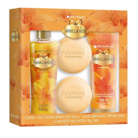 Phytoderm Vanilla Kiss Kit + Loção Hidratante + Sabonetes