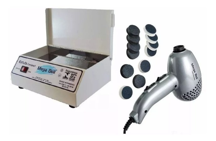 Estufa Esterelix Compact + Pedicuro Prata 220v C/ Lixas