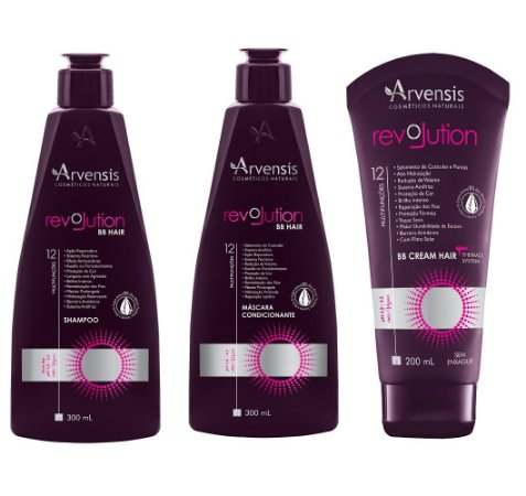 Kit Arvensis Revolution Bb Hair Vegano 3 Produtos