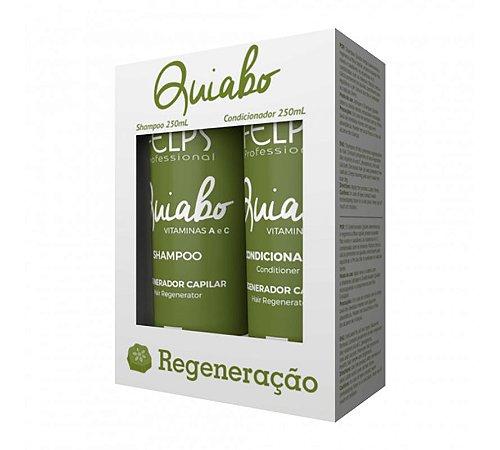 Felps Kit Duo Regeneração Capilar Quiabo Home care 2x250ml