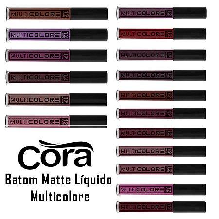 Batom Matte Líquido Multicolore Cora