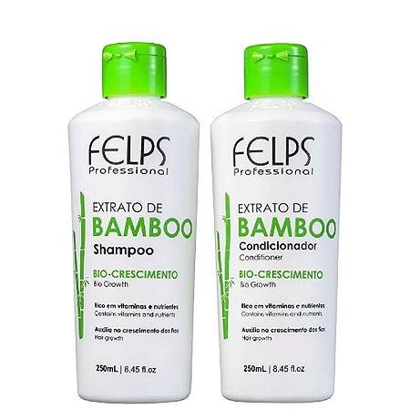 Felps Extrato de Bamboo Shampoo e Condicionador Kit 2x250ml