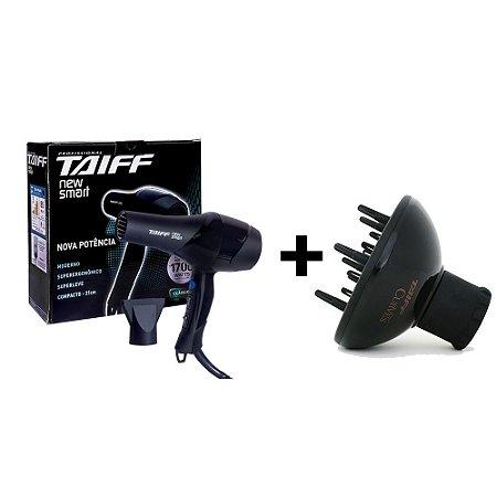 Secador Taiff New Smart, 1700 W 2200v +Difusor Curves