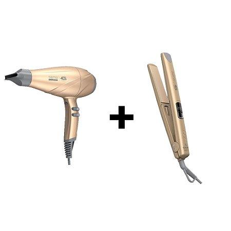 Kit Gama Sensi 4D Therapy Gold Secador 2500W + Prancha 230ºC