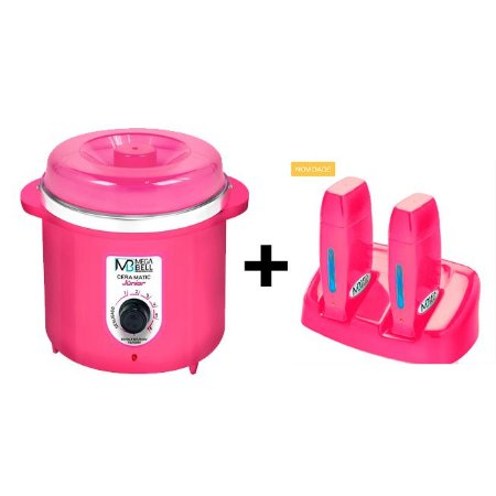 Termocera Pink MegaBell 400g + Base Dupla + 2 Roll On Pink