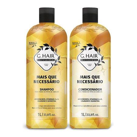 Kit G-Hair + Que Necessário Shampoo + Condicionador 2x1000ml