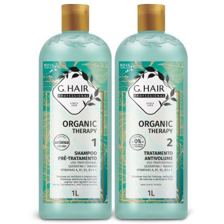 G.hair Kit Tratamento Anti Volume Organic Therapy  2x1litro