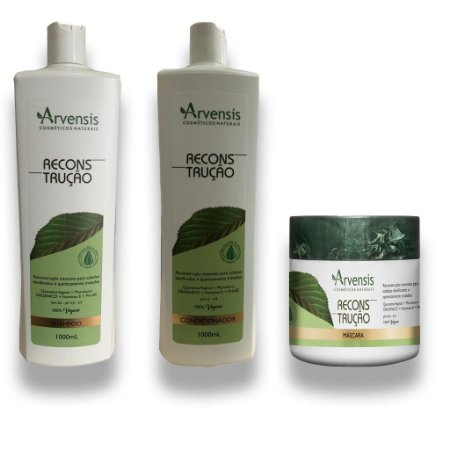 Kit Arvensis Reconstrutor Vegano 1l Sh+Cond+Masc 500g
