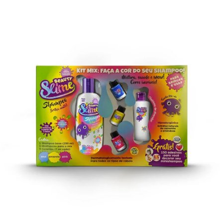 Beauty Slime - Kit Transformação - Faça a Cor do Seu Shampoo