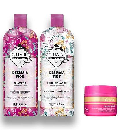 Kit Shampoo e Condicionador G.Hair Desmaia Fios +Máscara500g