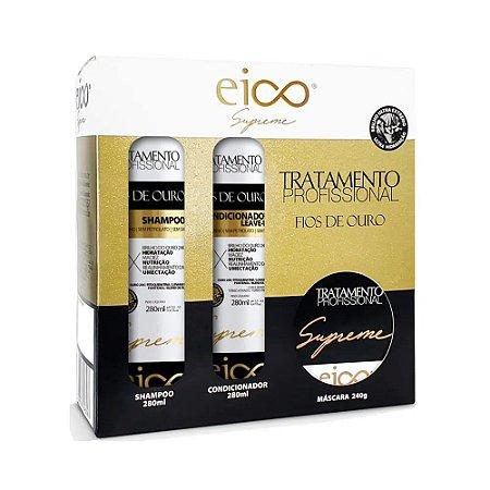 Kit Eico Supreme Fios de Ouro Máscara Tratamento Grátis