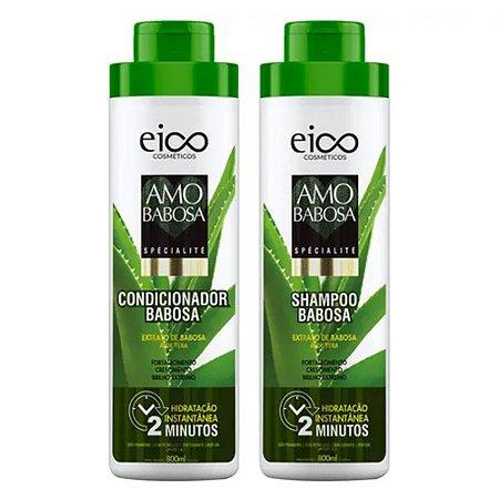Eico Kit Shampoo e Condicionador Amo Babosa - 2x800ml