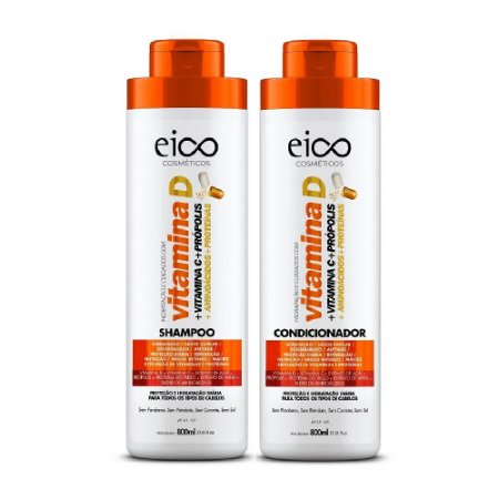 Kit Vitamina D Eico Shampoo e Condicionador 2x800ml